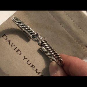 David Yurman X Station Bracelet With Diamonds